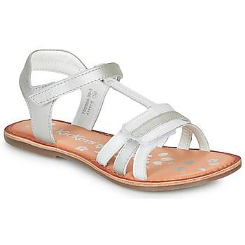 Buty Dziewczynka Sandały Kickers DIAMANTO Biały
