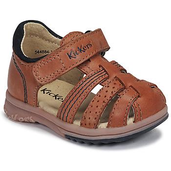 Buty Chłopiec Sandały Kickers PLATIBACK Camel