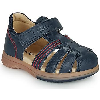Buty Chłopiec Sandały Kickers PLATIBACK Marine