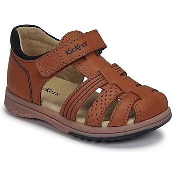 Buty Chłopiec Sandały Kickers PLATIBACK Brązowy