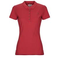 tekstylia Damskie Koszulki polo z krótkim rękawem Tommy Hilfiger NEW CHIARA Czerwony