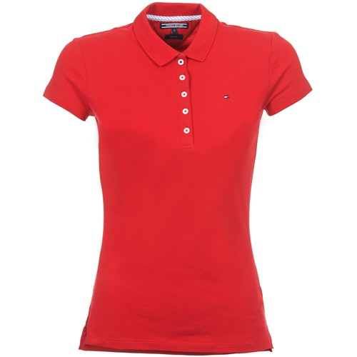 18daedd7f tekstylia Damskie Koszulki polo z krótkim rękawem Tommy Hilfiger NEW CHIARA  Czerwony