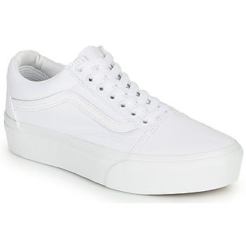 Buty Damskie Trampki niskie Vans Old Skool Platform Biały