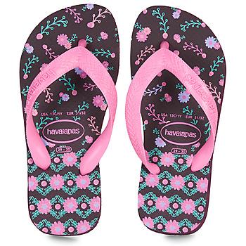 Buty Dziewczynka Japonki Havaianas KIDS FLORES Oberżyna