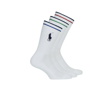 Dodatki Męskie Skarpety Polo Ralph Lauren 3PK BPP-SOCKS-3 PACK Biały