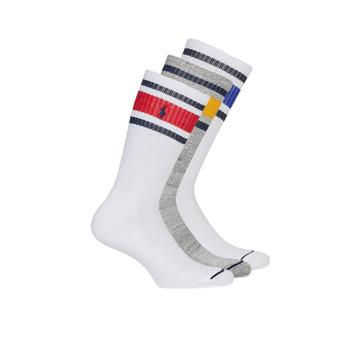 Dodatki Męskie Skarpety Polo Ralph Lauren 3PK OC CH ST-CREW-3 PACK Biały