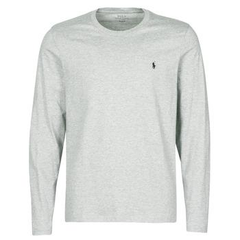 tekstylia Męskie T-shirty z długim rękawem Polo Ralph Lauren L/S CREW-CREW-SLEEP TOP Szary