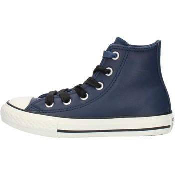 Buty Chłopiec Trampki wysokie Converse 662809C Niebieski