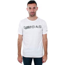 tekstylia Męskie T-shirty z krótkim rękawem Gas GATS01 JUNGLE T-SHIRT AB30 WHITE JUNGLE Blanco