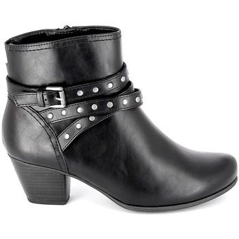 Buty Damskie Botki Jana Boots 25362-23 Noir Czarny