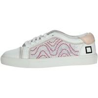 Buty Damskie Trampki niskie Date E20-6 'Biały/'Różowy