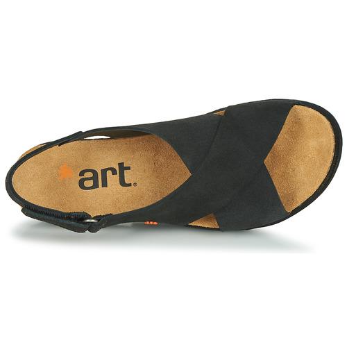 Art Rhodes Czarny - Bezpłatna Dostawa- Buty Sandały Damskie 27230 Najniższa Cena