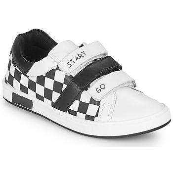 Buty Chłopiec Trampki niskie Chicco CANDITO Biały / Czarny