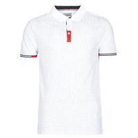 tekstylia Męskie Koszulki polo z krótkim rękawem Yurban NELLY Biały