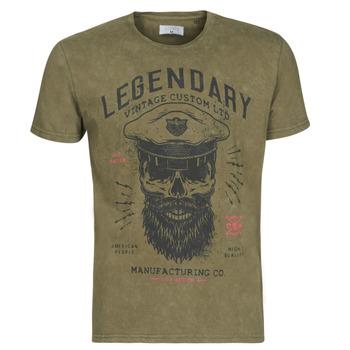 tekstylia Męskie T-shirty z krótkim rękawem Yurban MCOOL Kaki