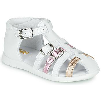 Buty Dziewczynka Sandały GBB PERLE Biały