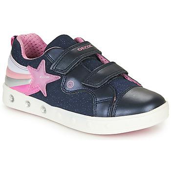 Buty Dziewczynka Trampki niskie Geox J SKYLIN GIRL Marine / Różowy