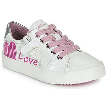 Buty Dziewczynka Trampki niskie Geox J GISLI GIRL Biały / Różowy / Argenté