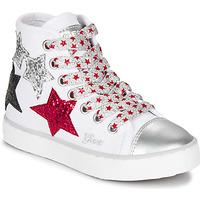 Buty Dziewczynka Trampki wysokie Geox JR CIAK GIRL Biały / Czerwony / Czarny
