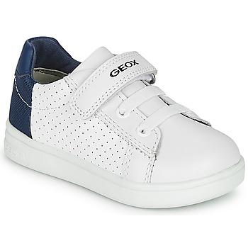 Buty Chłopiec Trampki niskie Geox B DJROCK BOY Biały / Niebieski
