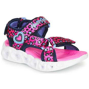 Buty Dziewczynka Sandały sportowe Skechers HEART LIGHTS Różowy / Czarny
