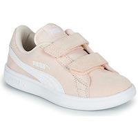 Buty Dziecko Trampki niskie Puma Puma Smash v2 SD V PS Różowy