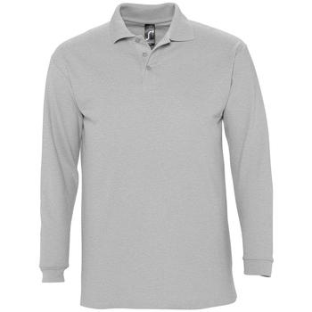 tekstylia Męskie Koszulki polo z długim rękawem Sols WINTER 2 CASUAL MEN Gris