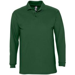 tekstylia Męskie Koszulki polo z długim rękawem Sols WINTER 2 CASUAL MEN Verde