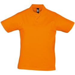 tekstylia Męskie Koszulki polo z krótkim rękawem Sols PRESCOTT CASUAL DAY Naranja