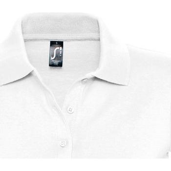 tekstylia Damskie Koszulki polo z krótkim rękawem Sols PRESCOTT CASUAL DAY Blanco