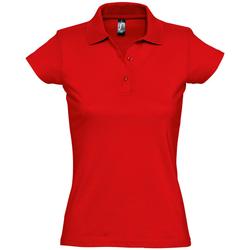 tekstylia Damskie Koszulki polo z krótkim rękawem Sols PRESCOTT CASUAL DAY Rojo