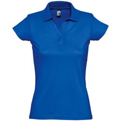 tekstylia Damskie Koszulki polo z krótkim rękawem Sols PRESCOTT CASUAL DAY Azul