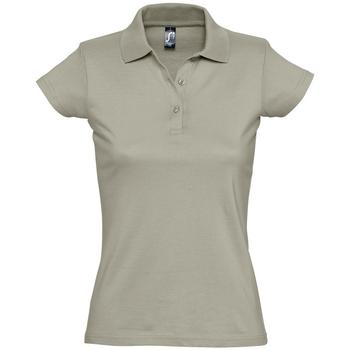 tekstylia Damskie Koszulki polo z krótkim rękawem Sols PRESCOTT CASUAL DAY Beige