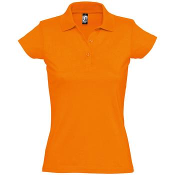 tekstylia Damskie Koszulki polo z krótkim rękawem Sols PRESCOTT CASUAL DAY Naranja