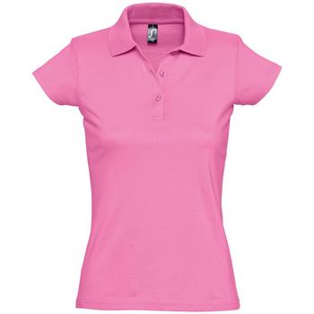 tekstylia Damskie Koszulki polo z krótkim rękawem Sols PRESCOTT CASUAL DAY Rosa