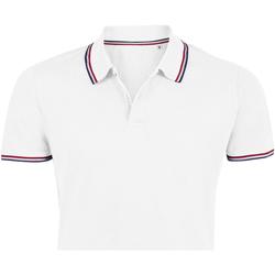 tekstylia Męskie Koszulki polo z krótkim rękawem Sols PRESTIGE MODERN MEN Blanco