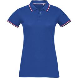 tekstylia Damskie Koszulki polo z krótkim rękawem Sols PRESTIGE MODERN WOMEN Azul