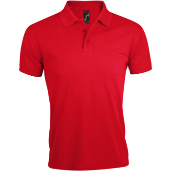 tekstylia Męskie Koszulki polo z krótkim rękawem Sols PRIME ELEGANT MEN Rojo