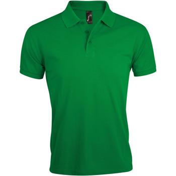 tekstylia Męskie Koszulki polo z krótkim rękawem Sols PRIME ELEGANT MEN Verde
