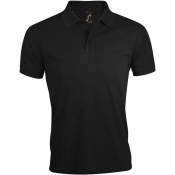 tekstylia Męskie Koszulki polo z krótkim rękawem Sols PRIME ELEGANT MEN Negro