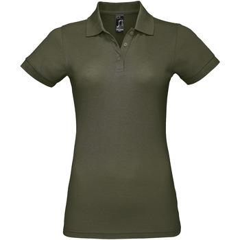 tekstylia Damskie Koszulki polo z krótkim rękawem Sols PRIME ELEGANT WOMEN Verde