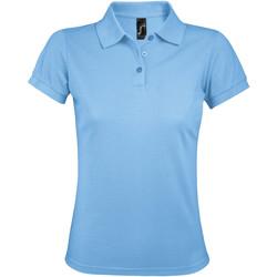 tekstylia Damskie Koszulki polo z krótkim rękawem Sols PRIME ELEGANT WOMEN Azul