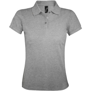 tekstylia Damskie Koszulki polo z krótkim rękawem Sols PRIME ELEGANT WOMEN Gris