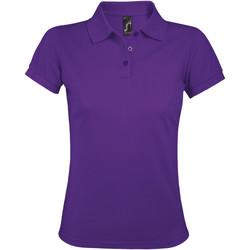 tekstylia Damskie Koszulki polo z krótkim rękawem Sols PRIME ELEGANT WOMEN Violeta