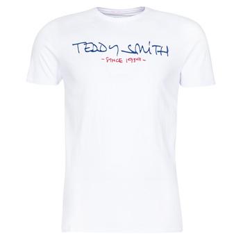 tekstylia Męskie T-shirty z krótkim rękawem Teddy Smith TICLASS Biały