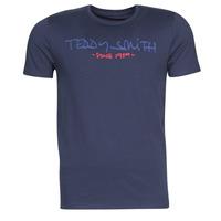 tekstylia Męskie T-shirty z krótkim rękawem Teddy Smith TICLASS Marine