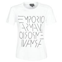 tekstylia Damskie T-shirty z krótkim rękawem Emporio Armani DONOVANN Biały