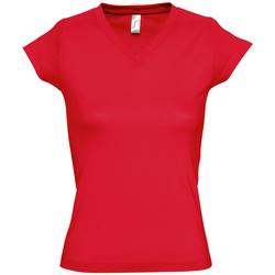 tekstylia Damskie T-shirty z krótkim rękawem Sols MOON COLORS GIRL Rojo