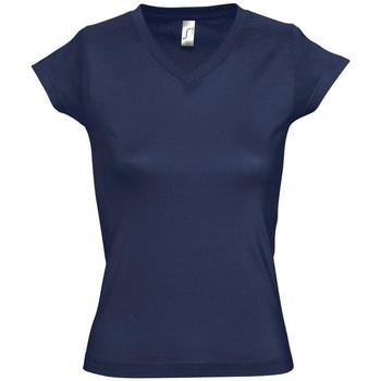 tekstylia Damskie T-shirty z krótkim rękawem Sols MOON COLORS GIRL Azul