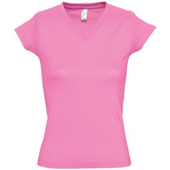 tekstylia Damskie T-shirty z krótkim rękawem Sols MOON COLORS GIRL Rosa